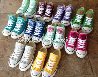 NEW COLORS! Sassy Monogrammed Converse All Star ® Sneakers