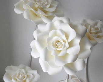 Giant Flower Rose Backdrop Wedding Flower Wall Rose Wall