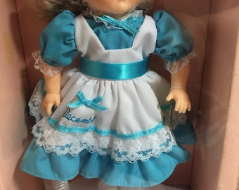 Ginny Vogue doll, December Turquoise from The Calendar Collection in original box