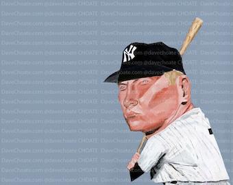 Mickey Mantle, New York Yankees Photo Print