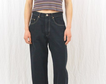 Vintage Wide Leg Dark Jeans, Size Small, Baggy, Skater, Grunge, 90's, Tumblr Clothing, Y2k