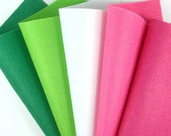 5 Colors Felt Set - Holiday - 20cm x 20cm per sheet