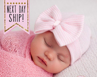 Baby Girl, Baby Girl hat, newborn hat, newborn hospital hat, infant hat, baby girl shower gift