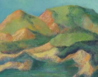 Original Landscape Acrylic Painting on Cradled Board | 101 Shoreline