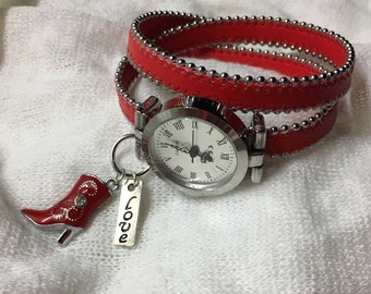 Watch Red leather double tour.