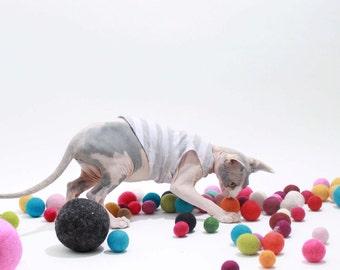 Pet Gift Cat Toys Assorted Sizes Amaze Balls™  9  Felted wool toys Catnip Organic Toy balls 6 Medium/Large & 3 small Cat Balls organic