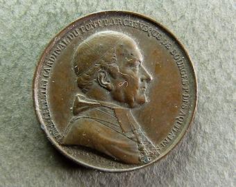 Celestine Dupont Cardinal Archbishop of Bourges D.M.Y religious Medal (1792-1859)