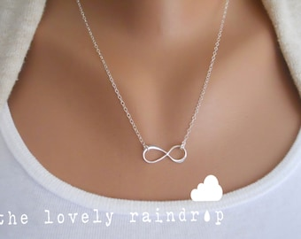 Sterling Silver Infinity Necklace - Infinity Charm Suspended on Sterling Silver Fine Cable Chain - Perfect Gift - morganprather