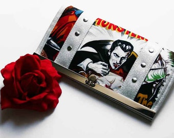 Monster Wallet with Your Choice of Vinyl Trim - MADE TO ORDER