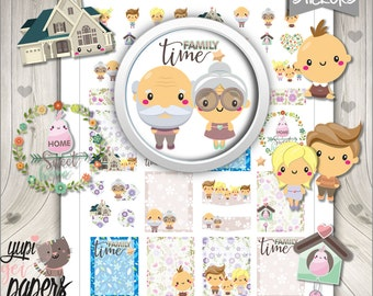 Family Stickers, Planner Stickers, Planner Accessories, Family Time, Home Stickers, Printable Stickers, Baby Stickers