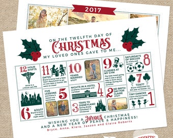 Christmas Infographic Card Countdown
