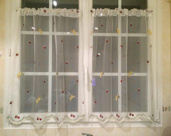 Small fruit kitchen curtains