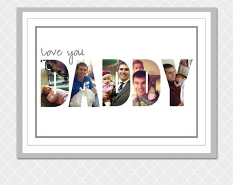 Love you DADDY picture word- Custom Digital Print- 5x7-  EOgdenAve
