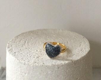Ring faience - Handmade jewelery - purified - made in France