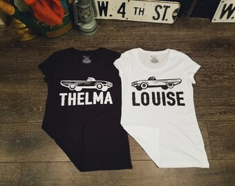 Thelma & Louise Tee Shirt (not a set,  individually sold)