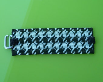 Kitties Tessellation Cuff Bracelet - Loom or 7 Drop Odd Peyote Bead Pattern