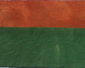 Teinté à la main laine tissu - laine citrouille Orange ou vert sauge - rug hooking - applique et l'artisanat - matelassage - quilting-014 primitif