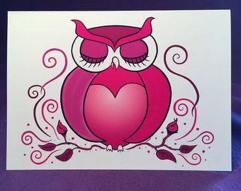 Love Owl Greeting Card