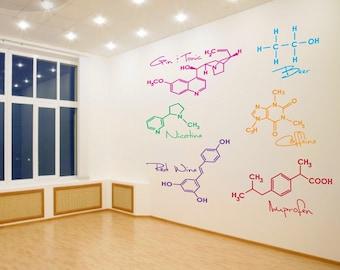 Party Molecules - Medium - Set of 6 - Vinyl Wall Decals