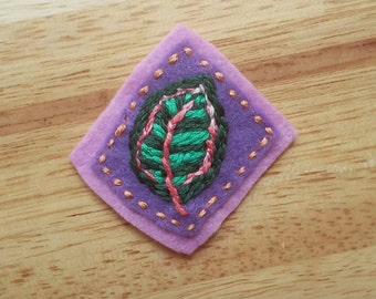 Houseplant Patch: Calathea Leaf (Patch, Pin, Brooch, or Magnet)