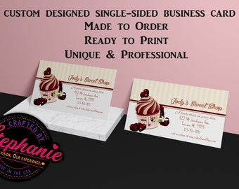 PSD Bakery Single Sided Business Card Custom Made to Order Colorful Professional Your Print Possible