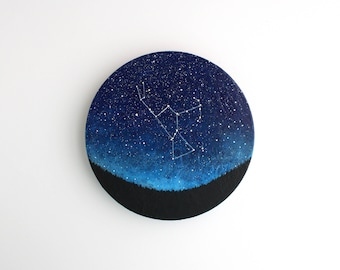 Orion Constellation Night Sky Circle Painting