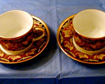 Four Christian Dior Cups and Saucers