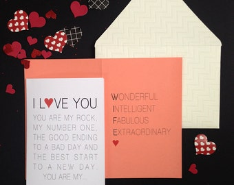 Valentine Card Printable valentines day card valentine card her valentine card her love card for wife