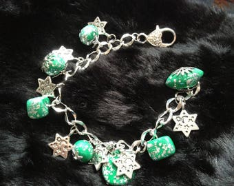"""""""charms"""" chain links and charms fimo bracelet"""