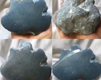 Huge ANGELITE gemstone polished rough mineral specimen one pound 1 lb spiritual crown chakra crystal