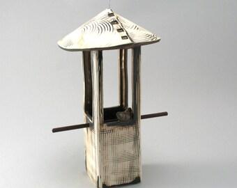 Bird Feeder, Ceramic Bird Feeder, Garden Art,Stoneware