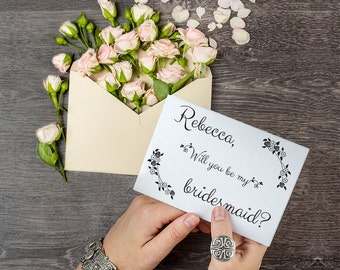 Will You Be My Bridesmaid Template, Editable Text, Printable File, Instant Download, PDF Template #BCB006