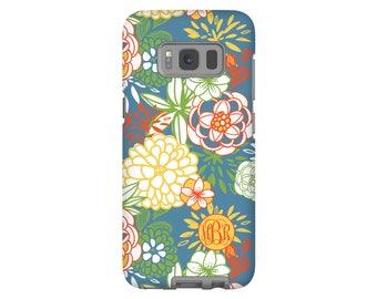 Monogram Galaxy Note 8 case, Galaxy S8 case, spring floral Galaxy S8 Plus case, S7/S7 Edge/,/S6 cases, girls Galaxy case