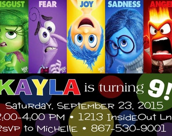 Inside Out Birthday Invitation