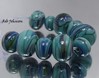 Wild Waters, Artisan Lampwork Glass Beads, SRA, UK