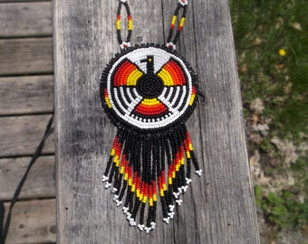 thunderbird necklace. native american beadwork