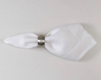 22x22 Dinner Hemstitch Linen Napkins-sold by the dozen Color White
