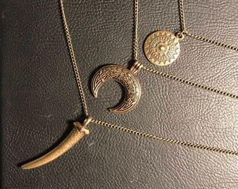 Ivory Necklace / Boho Style / Boho Necklace / Vintage Style Necklace / Triplet Necklace
