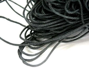 5M Waxed Cotton Cord 1mm - 22-30-1