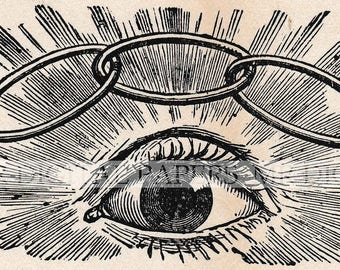 Eye Engraving / Oddfellows Eye / Paper Background / Paper Ephemera / Digital Instant Download / Old Eye Ephemera / Antique Oddfellows