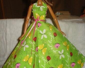 Joli vert d'été formel pour les poupées de mode - ed363