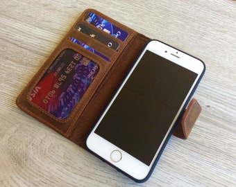iPhone 6 Wallet Case, Leather Wallet, Leather Case, Phone Wallet, iPhone 6s, iPhone 6PLUS, iPhone 6sPLUS,Custom Engraved, Personalized
