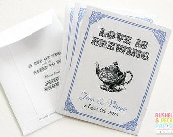 Liebe ist das Brauen Par-Tee™ Gefälligkeiten - #Wedding #Bridal #Tea #Favors