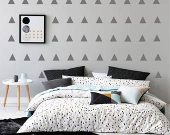 300 Geometric Trainagle Wall Decal Confetti Triangles Stickers Nursery Decor Bedroom Decor Babies Room Star Wall Art Boys Girls Room