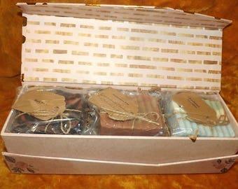 Valentine's Day Gift Box Set- 3 Handmade Goat's Milk Soaps