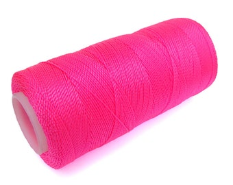 NEON PINK Jewelry Thread - Crochet - Macrame - Knotting - Non-waxed - Spool of 300 Yards