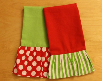 Holiday Towels Personalization included