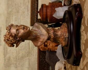 Atlantean Elf Bust - Copper Patina