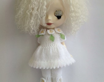 pdf knitting pattern - Blythe Blooming Lovely dress and bloomer set