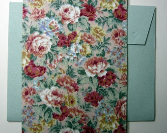 Hand made blank card with matching envelope